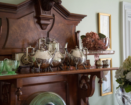 Bishop's House dining area - antique sideboard