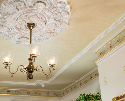 Interior ceiling light medallion and trim